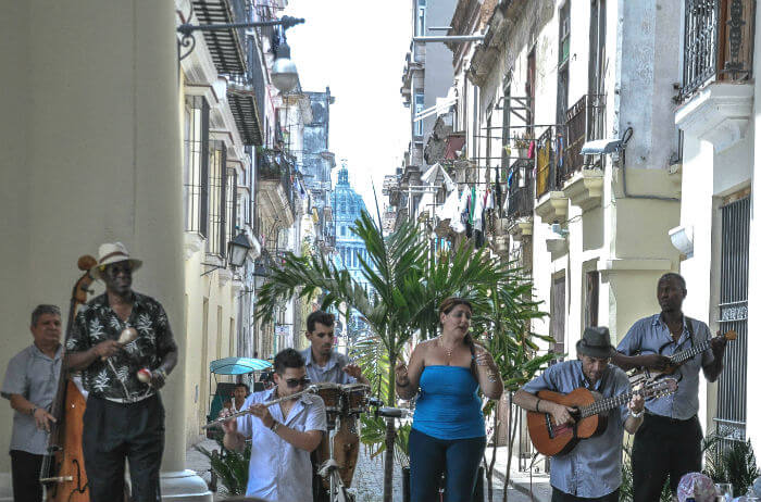 Music and history come together in Havana Vieja.